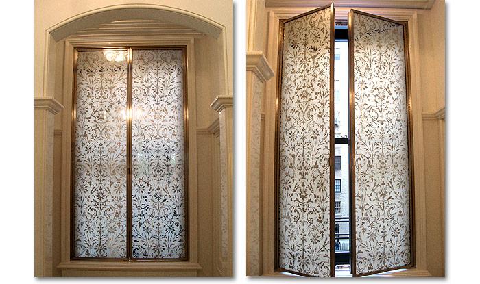 Glass interior doors - Miriam Ellner Design Verre Eglomis 233